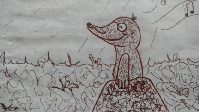 Zeichnung eines Maulwurfs